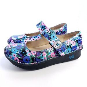 Alegria Paloma Floral Mary Jane Shoes 40 9